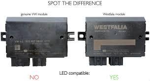 volkswagen amarok tow bar module and 7 pin wiring kit led vw oem