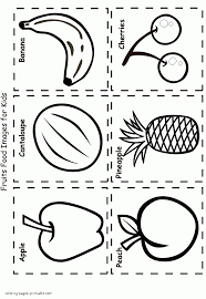 food coloring pages for preschoolers fruits