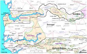 Dakar Senegal Map Senegambian Languages Janga Wolof
