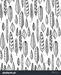 seamless pattern organic ornament vector repeating stock vector