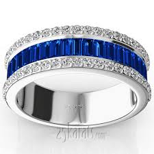 eternity wedding bands and rings 25karats page 2 sapphire baguette and brilliant anniversary band