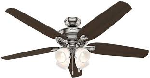 Brushed Nickel Ceiling Fan With Light Hunter Channing 60 In Indoor Brushed Nickel Ceiling Fan With