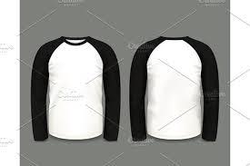 black raglan sweatshirt long sleeve vector illustrations