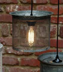 Hanging Industrial Lights by Hanging Industrial Light Vintage Galvanized Wire Cricket Basket