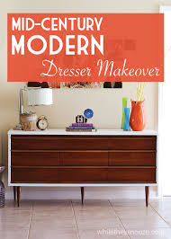 Midcentury Modern Dresser - while they snooze mid century modern dresser makeover
