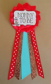 sock monkey baby shower mommy to be flower ribbon pin corsage