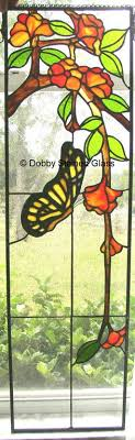 stained glass butterfly l peinture sur verre glass painting papillon 9 x 12 butterfly peut