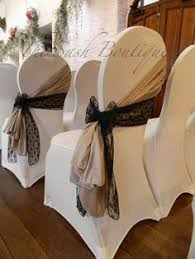 Chair Coverings Coral Organza Sashes On White Stretch Chair Covers With A Floral