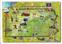 Philadelphia Map Usa by What Is Pennsylvania Known For Usa Pennsylvania Map Pa