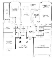 one story floor plans with two master suites one level house plans with two master suites adhome
