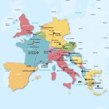 contiki european adventure tour map potentially a trip i want to