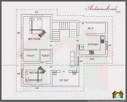 Floor Plan With Elevation by 4 Bedroom House Plan In 1400 Square Feet Architecture Kerala