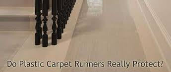 are plastic carpet runners safe for your carpet