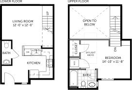 Shop Living Quarters Floor Plans Metal Building 1 Bedroom Miller Lofts At Plant Zero