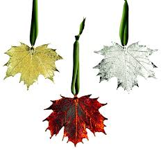 real sugar maple leaf ornament contemporary