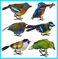 small metal bird ornaments choice of 6 different birds