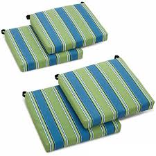 Patio Chair Cushions Set Of 4 Blazing Needles 20 Inch Designer All Weather Patio Chair Cushion