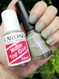 caronia nail polish in road trip matte top coat this summer
