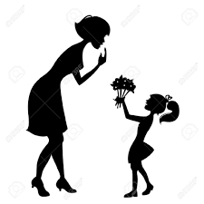 free mother day clip art black and white best images collections