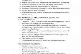 mortgage loan processor resume x 140 objectives of underwriting