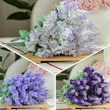 10 heads artificial lavender silk flower charismatic bouquet