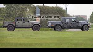 jeep chief truck 2019 jeep scrambler pickup jt wrangler based spied testing