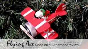 hallmark u0027s snoopy flying ace 2015 keepsake ornament youtube
