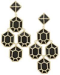 gunmetal chandelier earrings lorraine chandelier earrings in black jewelry pinterest