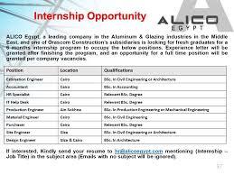 Help Desk Internship Alico Egypt For Aluminum Linkedin