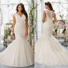 elegant lace wedding dresses v neck sheer back sleeveless bridal