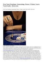 numerology reading free birthday card free tarot readings numerology runes i ching learn tarot cards