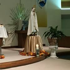 fatima statue mass st clare church clifton clifton nj