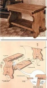 oak footstool plans furniture plans and projects woodarchivist