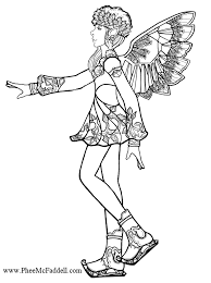 snowflake fairy color black white coloring craft