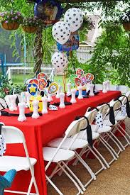 kid u0027s table paw patrol birthday party kara u0027s party