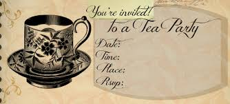 tea party invitations free template best template collection