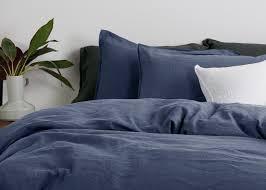 linge lit lin brisa parure de lit 100 lin bleu crépuscule made com