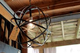 Rustic Ceiling Lights Lighting Metal Globe Shade Rustic Ceiling Lights With One Light