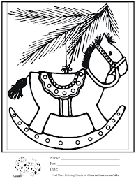 coloring page christmas ornament horse ginormasource kids