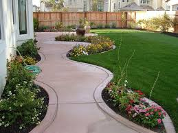 Small Back Garden Landscape Ideas Decor Tips Front Yard Flower Beds With Walkways For Small