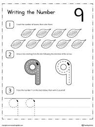 27 best kindergarten writing numbers printable worksheets images