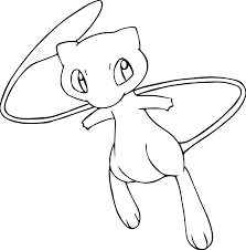 mew pokemon free coloring pages on art coloring pages