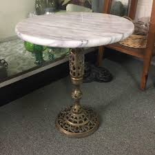 marble and brass coffee table vintage marble top brass side table chairish