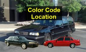 how to find the color code for your car paint and interior volvo