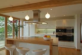 siematic white gloss contemporary kitchen with pine showroom