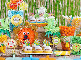 Birthday Candy Buffet Ideas by Jungle Animals Candy Buffet Ideas Party City