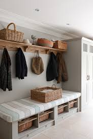 Bench With Baskets Awe Inspiring Entryway Bench With Storage Baskets Decorating Ideas