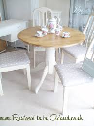 Shabby Chic Dining Table Set Marvelous Retro Salt Shabby Chic Dining Table And Chairs A