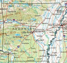 us map with arkansas arkansas maps perry castañeda map collection ut library