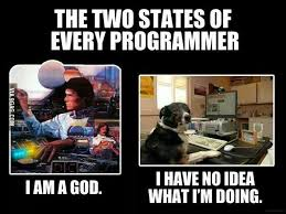 Funny Programming Memes - the two states of every programmer cp related memes